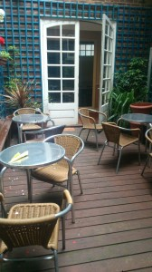 Courtyard at The Word Cafe, Margaret Street