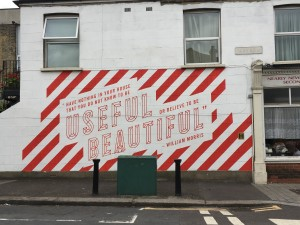 William Morris quote on wall in Ruby Road