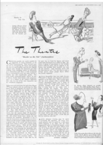 Tatler 3rd April 1946. Review of Murder on the Nile at the Ambassadors.