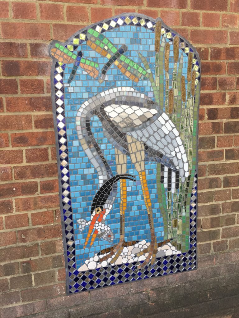 Artyface mosaic - Walthamstow Wetlands