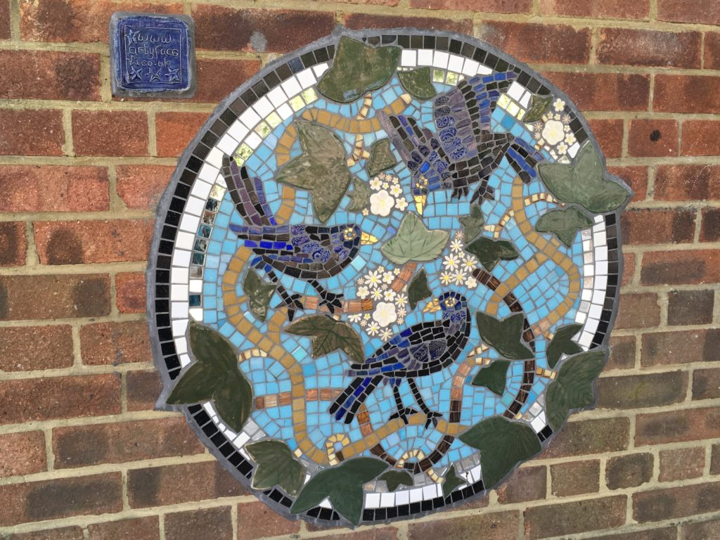 Artyface birds mosaic
