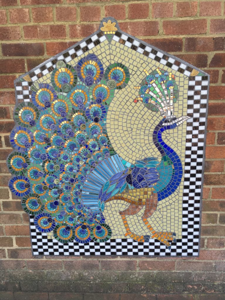 Artyface mosaic peacock