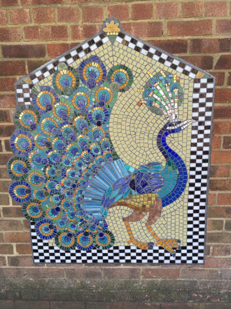 Artyface mosaic peacock