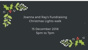 Charity Christmas walk poster