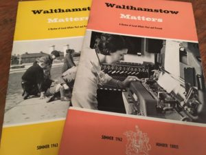 Walthamstow Matters 1962 and 1963