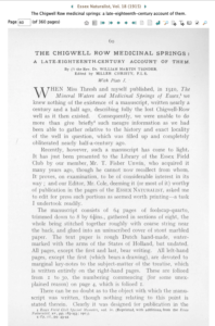 1st page of the 1915 article. Read the rest here http://www.essexfieldclub.org.uk/portal/p/Archive/s/019/o/0060